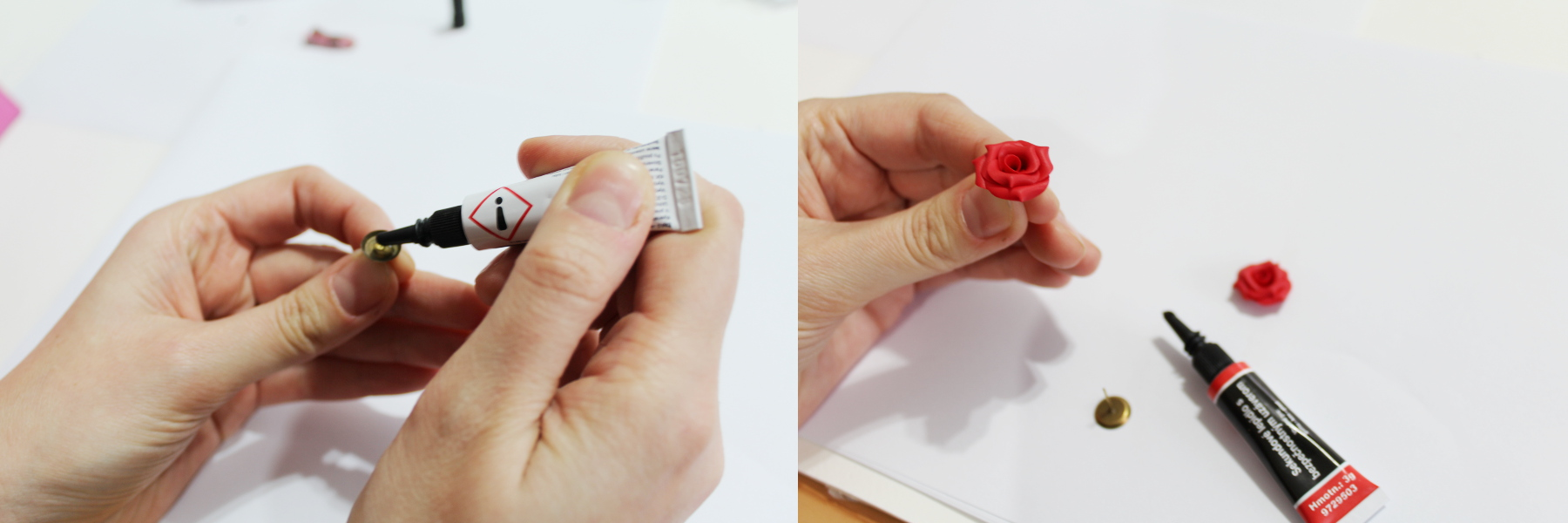 valentine rose polymer clay tutorial 13