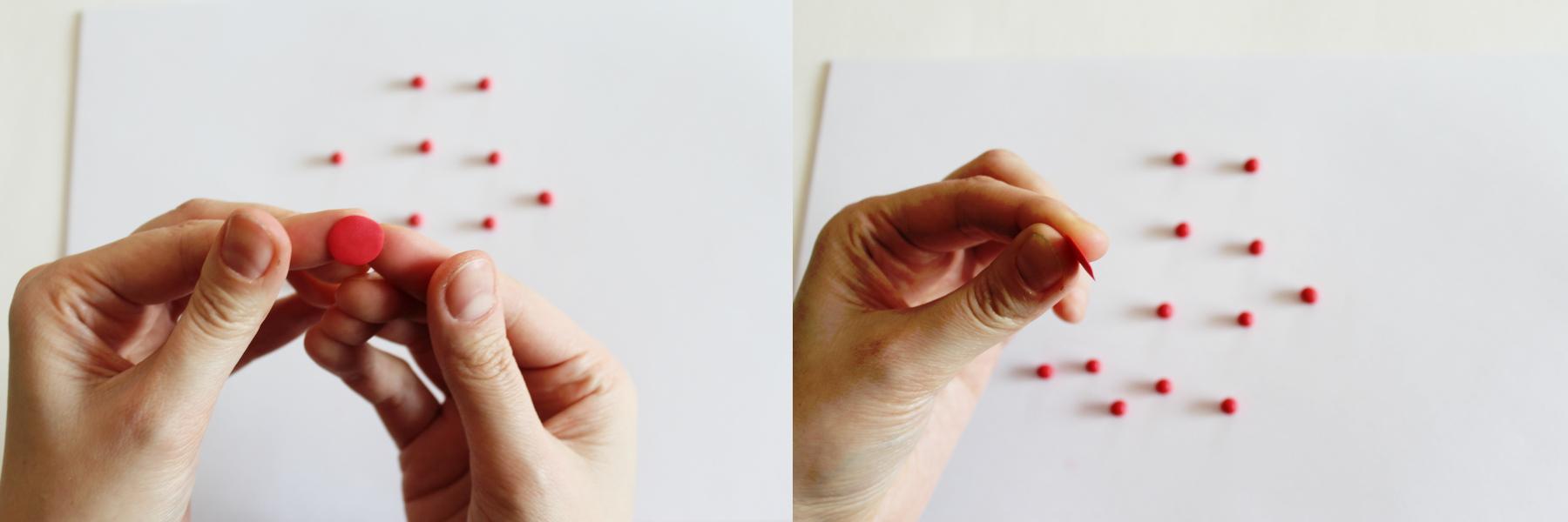 valentine rose polymer clay tutorial 7