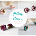 Glittery Flowers | Polymer Clay Earrings Step by Step Tutorial