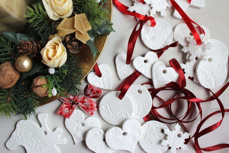 Diy Christmas Ornaments Air Dry Clay Tutorial My Vian