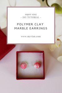 Diy Tutorial Marble Earrings The Easiest Polymer Clay