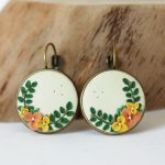 VIDEO: Flower Earrings II. | Polymer Clay Embroidery Tutorial