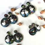 VIDEO: Polymer Clay Swan Lake Earrings | Slab Tutorial