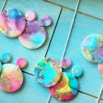 VIDEO: Rainbow Galaxy Earrings | Polymer Clay with Alcohol Ink Tutorial